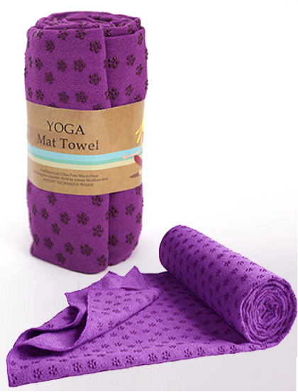 요가매트 타월 MICRO FIBER MAT TOWELYOGA TOWEL PURPLE